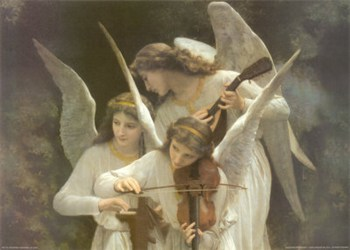 Angels Playing Violin  Fine-Art Print