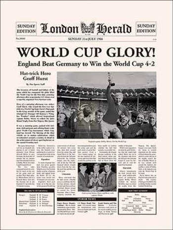 Anonymous - 1966 World Cup Size 12x16  Fine-Art Print