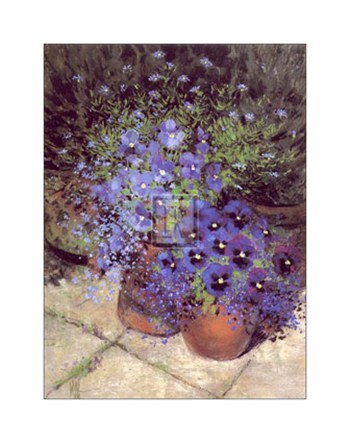 Patio Pansies I  Fine-Art Print
