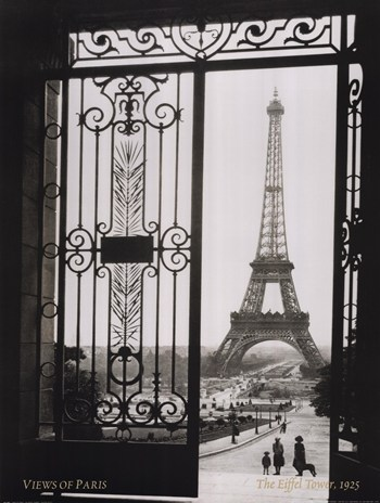 Views of Paris the Eiffel Tower  Fine-Art Print