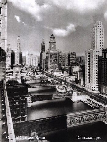 On the Chicago River, c.1930  Fine-Art Print