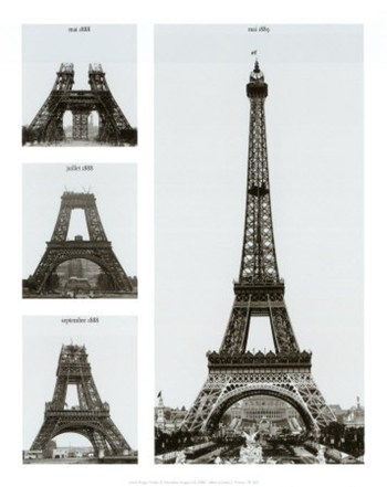 Construction of the Eiffel Tower  Fine-Art Print