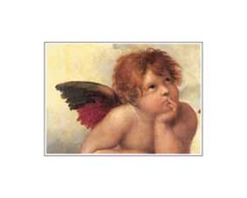 The Cherubim Putti Angels of The Sistine Madonna, c.1514 (detail - left side)  Fine-Art Print